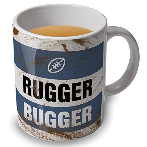 Rugger Bugger-Tasse-Rugby shirt Optik (Rugby-shirt Europäische)