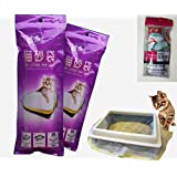 Manfa Katzenklo-Beutel/Beutel für Katzentoilette/Katzentoilettenbeutel Beutel Tüten Einlagen, 2 Packungen (14 Taschen), Trial Müllsäcken 8bags als Geschenk (groß)