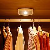 Deckey Nachtlicht mit Bewegungsmelder, Sensor Notbeleuchtung, LED Sensor Innen Nachtleuchte, batteriebetrieben Nachtlampe für Kinderzimmer Treppe Kleiderschrank Flur