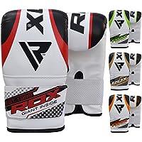 RDX Gants de Sac Frappe Muay Thai Kickboxing MMA Mitaines d'entrainement Gant Poire Vitesse Double Attache Bag Punching Ball Gloves