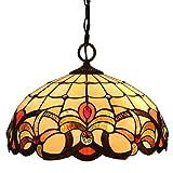 FABAKIRA Lampadari Vintage Stile Tiffany 16 Pollici Antico Pastorale Di Invertito Soffitto Lampadario a Sospensione Light Fixtures Per Soggiorno Pranzo Camera Da Letto