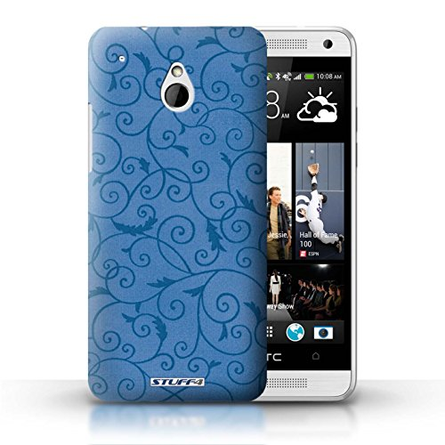Kobalt® Imprimé Etui / Coque pour HTC One/1 Mini / Vert conception / Série Motif de la vigne Bleu