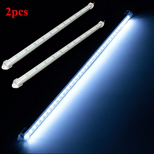 SOLMORE 12V 7.2W 36 LED Car Interior Light Bar SMD 5630 Strip Light for Lamp Van Caravan Boat Bus Garden Events Office Decortion(2Pcs)