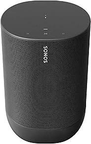 Sonos Move Smart Speaker (Wasserfester WLAN und Bluetooth Lautsprecher mit Alexa Sprachsteuerung, Google Assis
