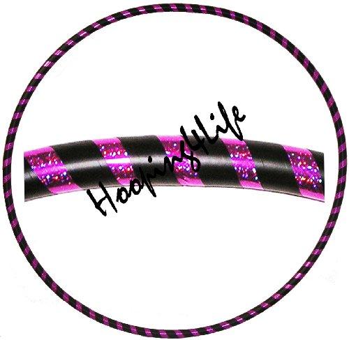 Hooping4Life holografisch Purpur u. Schwarzer Hula Hoop Reifen für Training u. Tanz; Größe ca. 101 cm, Gewicht ca. 625 g