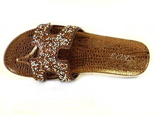 SKO'S, Infradito donna Bronze (H1)