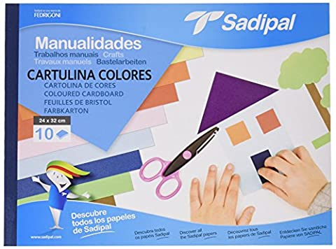 Sadipal 5980 Bloc de travaux manuels 10 feuilles de papier bristol