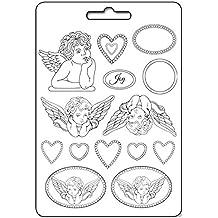 Molde Maxi PVC ángeles y corazones