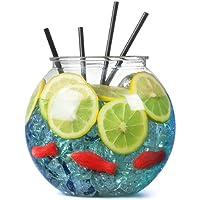 Bar@Drinkstuff - Pecera cóctel plástico 100oz / 2.9ltr / 18,5 cm - single | pecera de fiesta | diámetro: 185mm | non-decorativa pecera claro (accesorios no incluidos: pescado, pajillas, hielo y rebanada de limón)