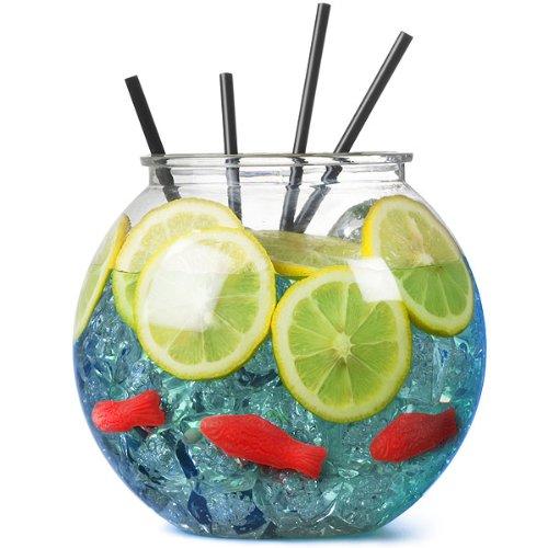 Goldfischglas aus Kunstoff, 100 Unzen/2.9Liter - Einzeln | Party Goldfischglas, Party Cocktail-Schale | Durchmesser: 185mm | Durchsichtiges Goldfischglas (Nicht im Lieferumfang enthalten: Fisch, Strohhalme, Eis und Zitronenscheiben)