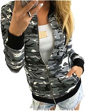 RETUROM Las mujeres nuevo estilo camuflaje capa de la chaqueta del otoño de la calle del invierno de la chaqueta...