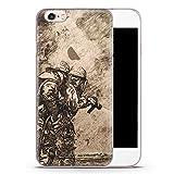 iPhone 6 & 6s transparente SLIM Hülle - Vintage Feuerwehr - Motiv Design Cool Feuerwehrmann - durchsichtige Handyhülle Hardcase Schutzhülle Cover Case Schale Hardcover