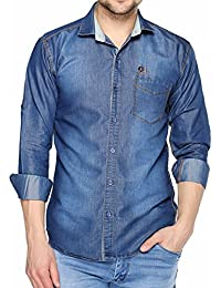 Lafantar Men's Slim Fit Denim Shirt