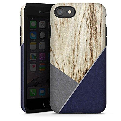 Apple iPhone X Silikon Hülle Case Schutzhülle Holz Modern Trend Tough Case glänzend