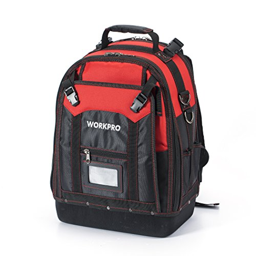 WORKPRO Rucksack für Werkzeug, Taschen für Werkzeug mit 37 Taschen, wasserdicht Werkzeugrucksack