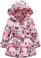 Yiling-Winterjacke - Daunenjacke - Mantel mit Blumen für Mädchen - In verschiedenen Farben und Größen
