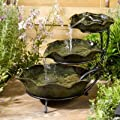 Small Solar Powered Water Feature Ceramic Lilypad PC102