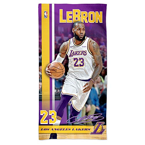 "Offizielles NBA Los Angeles Lakers Strandhandtuch ""LeBron James"""
