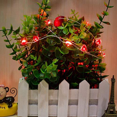 Gyyl Rote Liebe Led Lichterkett Kupfer Draht String Usb Powered Mini String Lichter Für Diy Party Decor Weihnachten Halloween Hochzeit (Mini-licht-girlande)