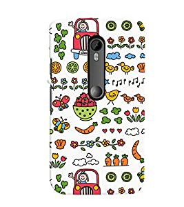 TOUCHNER (TN) Colorful Life Back Case Cover for Motorola Moto G3::Motorola Moto G (3rd Gen)