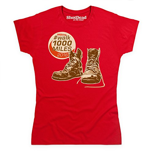 Shotdeadinthehead Walk 1000 Miles 2016 Boots T Shirt, Female