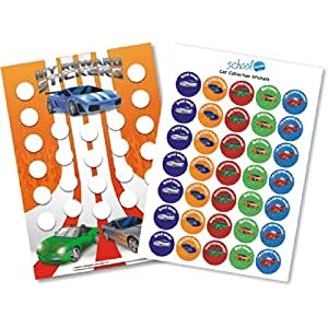 A3 Cars Collection Reward Chart & Stickers Teacher Parents Children