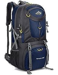 Macutos de senderismo Mochilas y bolsas Senderismo Mochila, Camping Mochila / Viaje Mochila / Trekking Mochilas / Casual Mochila para el deporte al aire libre Senderismo Trekking Camping Escalada Montaña (BLUE 2, 60L)