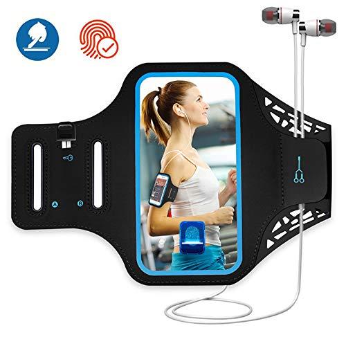 Fascia da Braccio Sportiva Running,Bracciale per Corsa & Esercizi con Supporto Chiave e Riflettente Armband per iPhone XR, XS/X/8 Plus/7 plus/6 plus/6s plus, Samsung Galaxy S8E, S8, Huawei ecc.