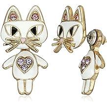 Betsey Johnson Womens Cat Ear Jacket Earrings
