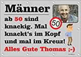 140x96 cm XL Geburtstagsbanner für Männer zum runden oder halbrunden Geburtstag mit Foto, Name und Alter personalisierbar - Geburtstags-Banner - Männer ab GEB03M