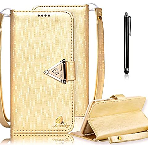 iPhone 6S Case, iPhone 6 Wallet Case, Bonice Premium Bling