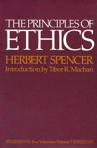 The Principles of Ethics: Volume 1