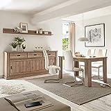 Lomadox Esszimmer-Kombi im Landhaus Stil Dekor San Remo Nb. mit großem Sideboard (ohne Stühle)