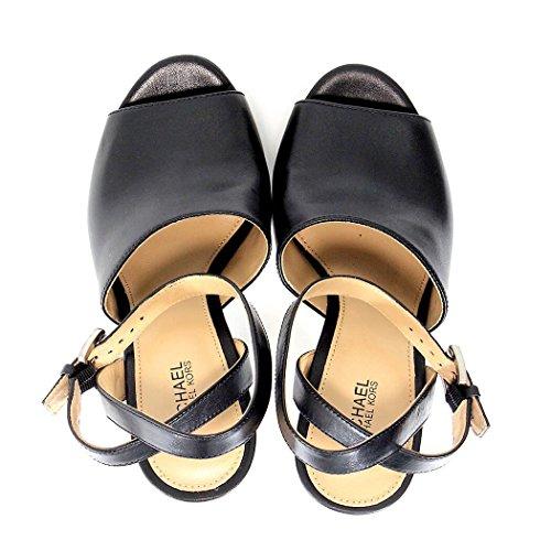 TRINA PLAT FORM sandalo con tacco nero Black