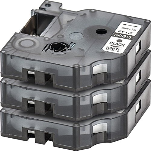 Preisvergleich Produktbild Caidi Compatible 3x Labelling Tape 12mm 7m Compatible with Dymo 45013 D1 Labels - Black on White