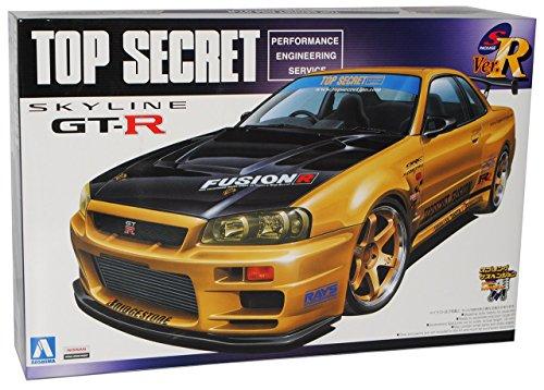 Gtr R34-modell-kit (Nissan Skyline R34 GT-R Gold Tuning 1998-2002 Kit Bausatz 1/24 Aoshima Modell Auto Modell Auto)