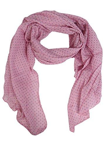 Seiden-Tuch für Damen mit dezentem Muster von Zwillingsherz / Elegantes Accessoire / als Schal / Seiden-Schal / Halstuch / Schulter-Tuch oder Umschlagstuch einsetzbar (rosa)