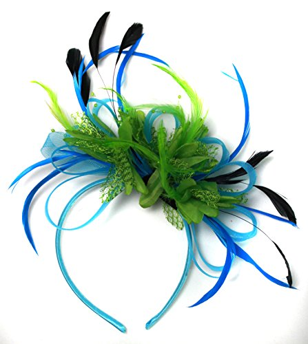 aqua-cornflower-blue-and-green-net-hoop-feather-hair-fascinator-headband-wedding-royal-ascot-races