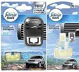 Procter & Gamble SET Febreze Car Fresh Escape Klare Bergluft Autoclip + 2x Flakons