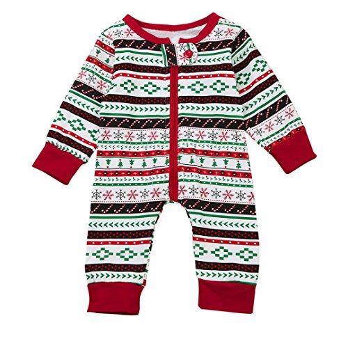 BURFLY Kinderkleidung ♥ Weihnachten Baby Boy's T-Shirt Tops + Pants Outfits Kleider Brother Set (3 -24 Monate und 3-7 Jahre alt) (12 Monate, Rot)