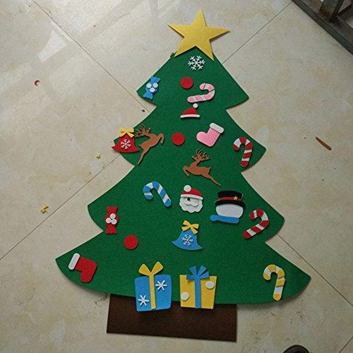 Regali Di Natale Fai Da Te Per Bambini.Zantec Giocattoli Bambini Fai Da Te Feltro 3d Albero Di Natale Con