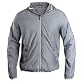 Clique - Unisex Full Reflective Jacke 'Flashback' / dark grey (949), S