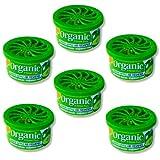 6 Dosen Organic Can Duftdose Autoduft - Apfel green apple