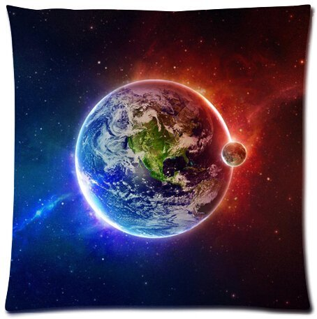 Funny Pillowcase Dekorative Quadratisch Überwurf Kissenbezug Kissen Fall, Headcover/Weltall Orbit Rocket Galaxy Sterne Milkyway Nebel Druck 18von 18Kissen Fall Twin-Sides -