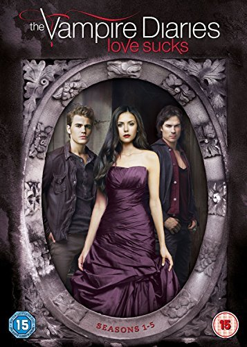 Vampire Diaries TV Series 1 - 5 Complete All 111 Episodes DVD (25 Disc) Box Set Collection: Season 1, 2, 3, 4, 5 + Special Features + Deleted Scenes + Featurettes + Gag Reel + Fan Gallary + Extras by Nina Dobrev (Box Diaries Vampire Set)