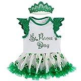 Mombebe Bebé Niña St Patricks Disfraz Body Vestir con Venda (St Patricks, 18-24 Meses)