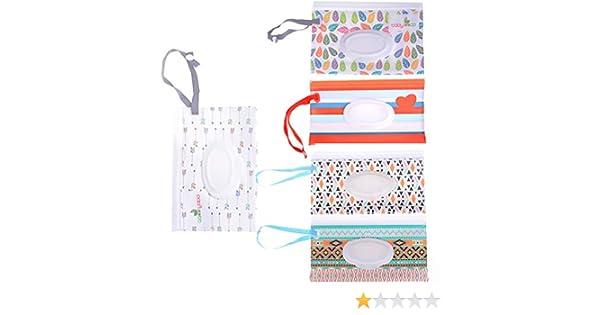 Uteruik Baby Wet Wipe Pouch Travel Wipes Case Refillable Portable Dispenser Travel Cases 6pcs