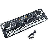 Zmoon Teclado de Piano, 61 Teclado Electrónico Multifuncional Órgano Eléctrico para Niños con Micrófono para