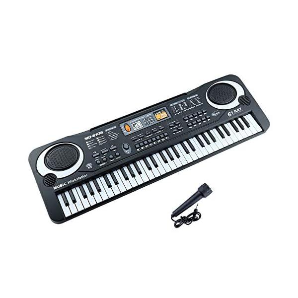 Zmoon Teclado De Piano 61 Teclado Electrónico