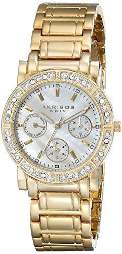 Akribos XXIV Femmes Multifonction Cristal de Diamant de la Montre Bracelet